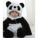 Children's Winter New Brushed Thick Warm Cartoon Panda Long Sleeve Hooded Baby Cotton Sets