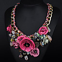 Moon Year Womens Floral Print Necklace