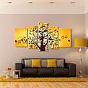 arte de la lona estirada árbol afortunado conjunto decorativo de 5
