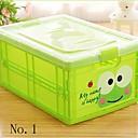1 pieza caja de almacenamiento de contenedores grandes de plástico patrón de dibujos animados
