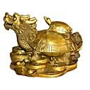 """11 """"Tipo de tortuga dragón h estilo antiguo de cobre de colección"""