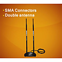 comfast cf-ant2410da 20dbi antena wifi inalámbrica de 2,4 ghz omni rp-sma imán -black