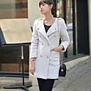 abrigos de doble botonadura de tweed de Belai mujeres de manga larga de 8455