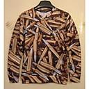 3d algodón de la impresión del cuello redondo manga corta camiseta de los hombres