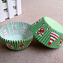 Merry Chrismas Cupcake Wrappers-Set of 50