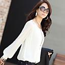 xiaonvren Puff-Sleeves Chiffon Shirt_X19(White)