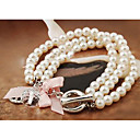 aleación de doble hilera de perlas barcelet de las mujeres manluo
