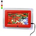 7-inch lcd parpadeo llevado marco de fotos digital con control remoto de vídeo de música (colores surtidos)