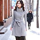 abrigo de manga larga engrosamiento color sólido ropa coreano sexylady
