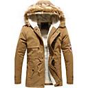 abrigo de algodón de cuello de piel de la manera de los hombres Dibai