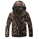 hombres de la chaqueta ESDY caza al aire libre de camping árboles impermeables abrigos de camuflaje chaquetas soft shell hoodie