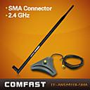 comfast cf-ant2410i-SMA súper alta ganancia wifi base de la antena 2.4ghz RP-SMA conector negro