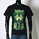 AFEC manga corta 3d lobo camiseta impresa de los hombres