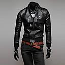 collar de moda soporte informal moto chaqueta delgada o de lesen hombres