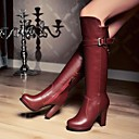Womens Shoes Round Toe Chunky Heel Knee High Boots More Colors available