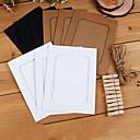 6 pulgadas marco de papel colgante estilo retro foto con el clip y cuerda [10 en 1]