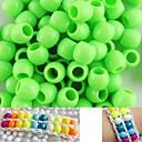100 piezas aprox luz 8x9mm verdes granos del potro nacarado para pulsera telar arco iris DIY accesorios
