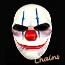 día de pago de 2 cadenas máscara de resina para la fiesta de Halloween (1 pc)