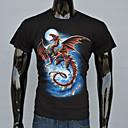 AFEC manga corta 3d dragón camiseta impresa de los hombres