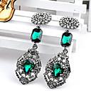aleación de la vendimia pendientes de diamantes de las mujeres manluo