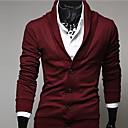 ZJ.SM Mens v neck cardigan solid color coat