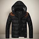 cálida coat_13 manga de los hombres SMR ocasional encapuchada larga