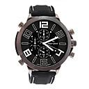 línea v6 hombres WEIDE lujo oferta deportiva de cuero negro reloj de pulsera de cuarzo waterpoof