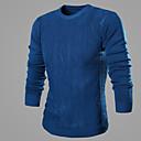 ZJ.SM Mens solid color casual long sleeve knitwear