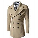 quiera de manga larga de cuello solapa fina abrigos de doble botonadura de los hombres