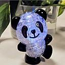 DIY 3D rompecabezas de cristal panda de plástico con flash