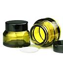 30g 2pcs oscuro verde botella transparente crema viajes-portable redonda