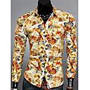 camisa de manga larga de la impresión floral de la moda coreana de los hombres tony