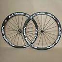 700c udelsa U38 completo de carbono llanta tubular ruedas de bicicleta de fibra de 38 mm con los ejes de Novatec ligeros