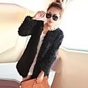 Womens Fashion Luxury Lambs Wool Imitation Fur Warm Coat