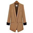 de color sólido a largo mediados rlk chaqueta 887 negro, camello