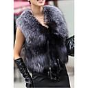 Womens Luxury Fashionable Faux Fur Vest