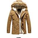 abrigo con capucha cuello de piel caliente de los hombres Hengyi