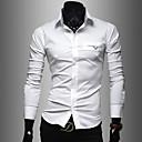 camisa de manga larga delgada de la manera de los hombres tony