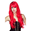 mal fuego diablo rojo largo fiesta de halloween peluca rizado 70cm de las mujeres