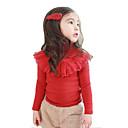 cuello alto de manga larga camiseta de hibaby chica (rojo)
