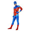 azul superman valienteamp;lycra spandex rojo traje Zentai unisex