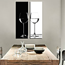 Stretched Canvas Art Still Life BW Goblet Set of 2