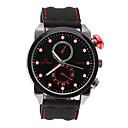 V6 Weide  Black Leather Fashion Dial Quartz Sport Waterpoof Wristwatch
