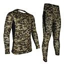 arsuxeo manga larga jersey de ropa interior deportiva de compresión de la capa de base térmica pantalón de los hombres