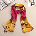 lana de flores de gasa patrón de bufanda de las mujeres Ludy