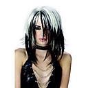 chica punk en blanco y negro 33cm color mezclado de halloween fiesta de la peluca de las mujeres