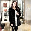 abrigo de piel elegante de la moda de invierno de las mujeres Baoli 1021