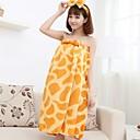 bowknot jirafa del estampado de animales de la moda desgaste del salón toalla de baño de las mujeres