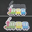 1pcs plantilla clara Perler Beads Pegboard patrón colorido tren de Hama Beads 5mm cuentas de fusibles