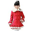 abrigo de lana de hibaby chica (rojo)